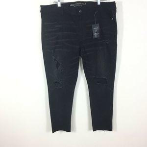 American Eagle Black Distressed Skinny Jeans 20